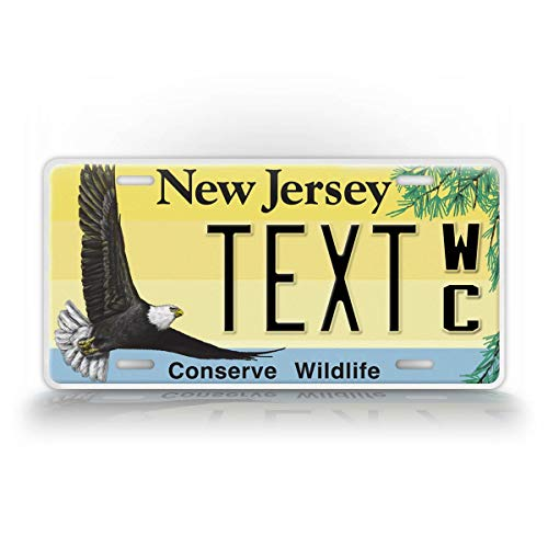 SignsAndTagsOnline Custom New Jersey Conserve Wildlife License Plate Any Text Personalized NJ Auto Tag