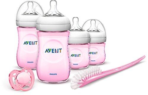 Biberón para recién nacidos de Philips Avent rosados. | Para las damitas.