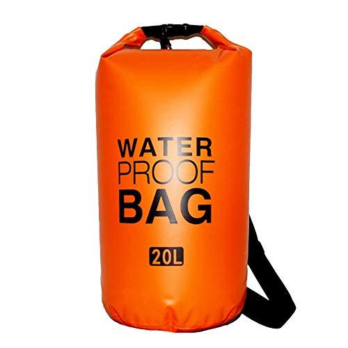 Icegrey Sac Etanche Poche Sec Sac à Dos Étanche Kit Dry Bag pour Kayak Bateau Canoeing Camping Piscine Rafting Voile Pêche Orange 2L