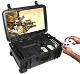 Case Club Waterproof Xbox One X/S Portable Gaming Station with Built-in 24' 1080p Monitor, Storage...