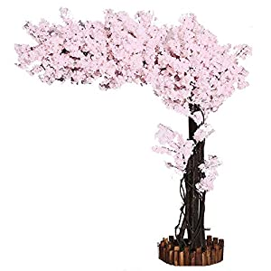 Artificial Cherry Blossom Trees Pure White Cherry Blossom Tree Arch Fake Sakura Flowers Indoor Outdoor Home Office Party