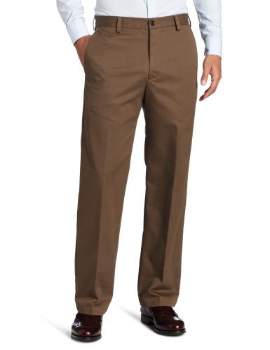 IZOD Men's Regular American Chino Flat Front Straight Fit Pant, Decaf Coffee, 40W x 32L
