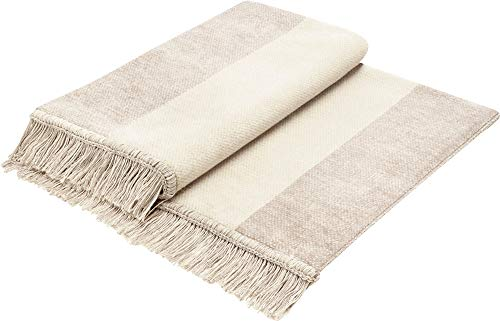 Biederlack Plaid Cover Cotton | SundP natur - 100 x 200