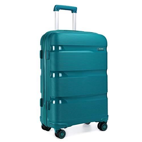 Kono Valise Trolley Taille Moyenne 65cm Valise de Transport Rigide en Polypropylène Légere à 4 roulettes avec Serrure TSA Intégré 66L