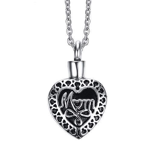 PULABO Mom Cremation Keepsake Memorial Urn Heart Shape Pendant Necklace DurableInUse Lovely