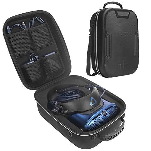 Euopat VR Aufbewahrungstasche,Schützende Aufbewahrungsbox, Hartschalenetui Für HTC Vive Cosmos, Aufbewahrungstasche Tragbare, Großvolumige Tasche Mit Reißverschluss Und Hochwertigem Tragegriff