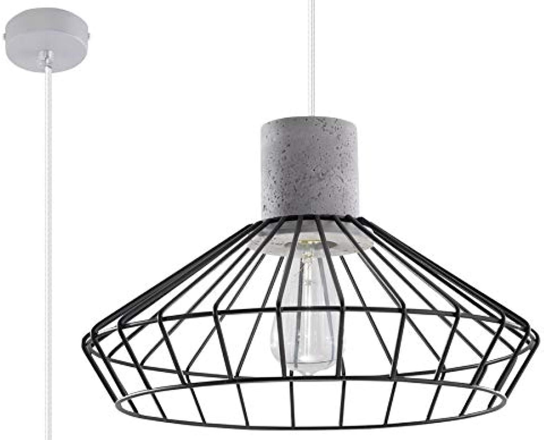 Sollux Lighting NELSON Pendelleuchte, Stahl, Schwarz, Grau