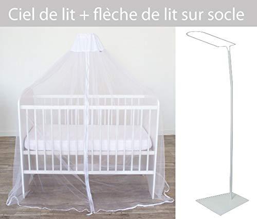 DOMIVA 5000966 Ciel de Lit Moustiquaire + Flèche
