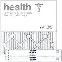 AIRx HEALTH 20x20x1 MERV 13 Pleated Air Filter - Made in the USA - Box of 6