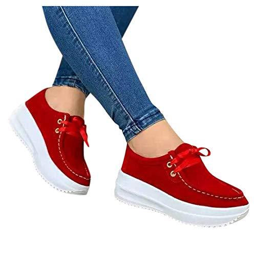 Mocasines Moda Casuales Mujeres 2021 Primavera Verano Zapatos de Cuña de Cuero...