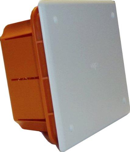 Electraline 60405 Einbau-Ableitungsbox, Größe 153x98x70 mm, IP44, Rot/Weiß