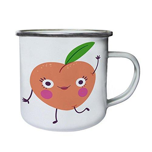 INNOGLEN Ich Liebe Obst Smile Lustige Früchte Retro, Zinn, Emaille 10oz/280ml Becher Tasse b676e