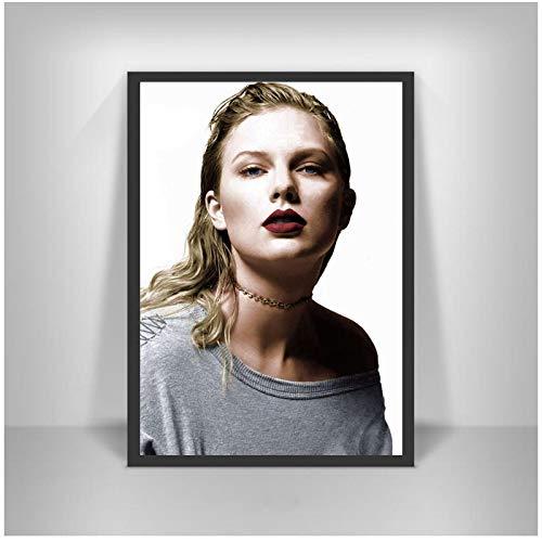 Taylor Alison Swift Álbum Reputación 2017 Salón de belleza Dormitorio Arte de la pared de estar Decoración para el hogar Imagen Lienzo Pintura Póster -50x70cmx1pcs -Sin marco