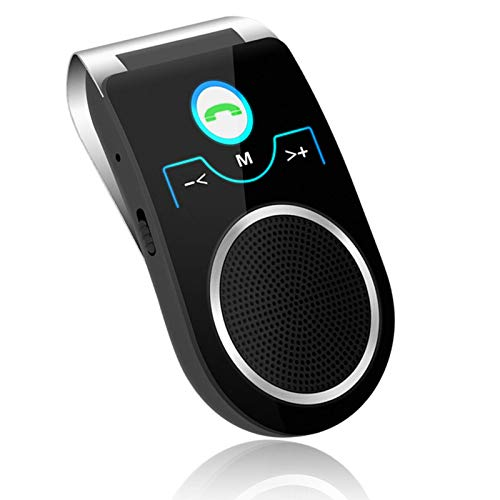 Aigital Bluetooth 5.0 Car Speaker Wireless in-Car Speakerphone Visor-Clip Bluetooth Handsfree Adapter, Upgraded Speaker System for HiFi Music and Clear Hands Free Calls, Designed for Safe Driving