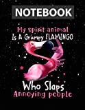 My Spirit Animal Is A Grumpy Flamingo Large 8.5x11 inches / Notebook College Ruled