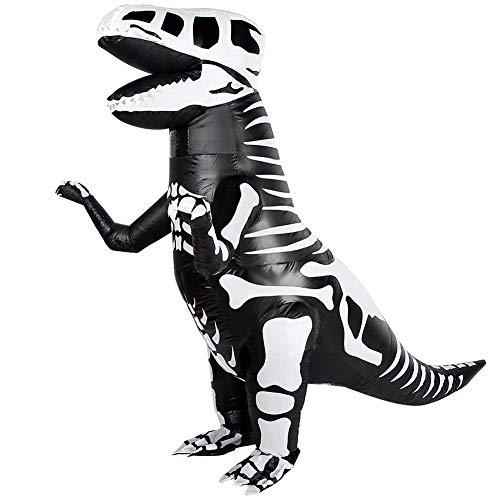 Inflatable T-Rex Costume Kids, Skeleton Dinosaur Costume Halloween Birthday