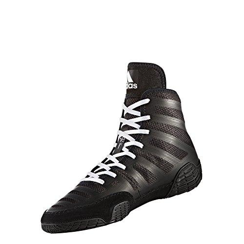 adidas Adizero Wrestling XIV Wrestling Shoes - Black/White/Black - Mens - 8