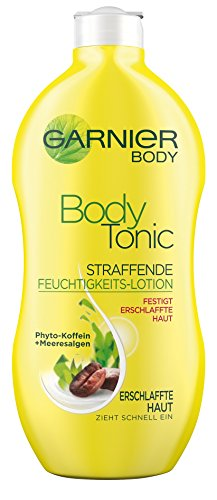 Garnier Body Tonic Straffende Feuchtigkeits-Lotion, strafft erschlaffte Haut und spendet Feuchtigkeit, mit Phyto-Koffein und Meeresalgen, 400 ml