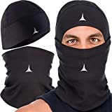 Balaclava Ski Mask - Winter Face Mask for Men & Women - Cold Weather Gear for Skiing, Snowboarding & Motorcycle Riding Black