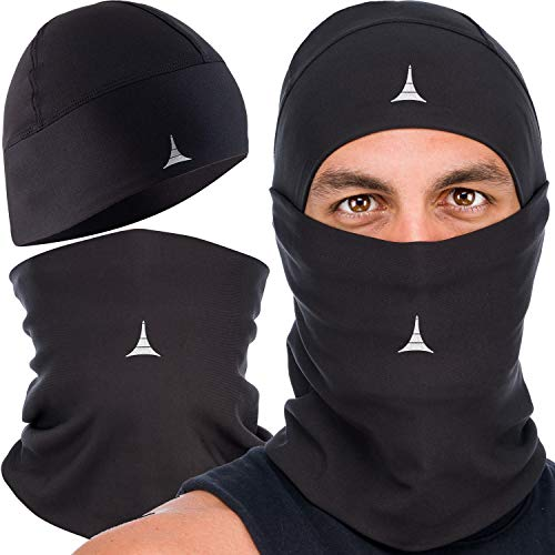 Cooling Face Mask Bandana for Dust, Wind, Outdoors and Sports. Neck Gaiter Summer Black
