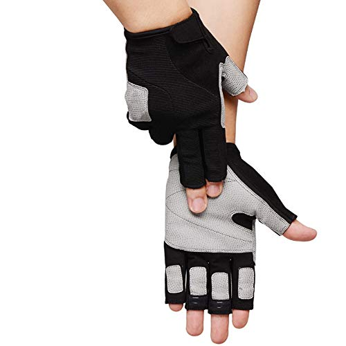 Txrh Sport Half Finger Gym Radfahren Radfahren Handschuh Klettern Berg Yoga-Übung Hantel (Color : Black, Size : L)