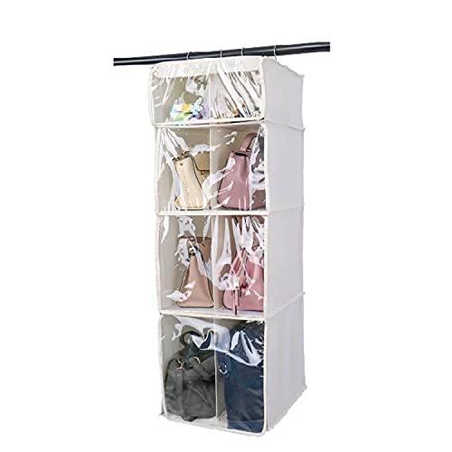 Honton - Sacchetti da appendere per armadio, a fila singola e doppia, a prova di polvere, per la casa, colore: bianco 2