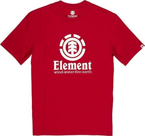 Element Vertical SS T-Shirts, Chemises et Polos Homme, Orange (Chili Pepper), M