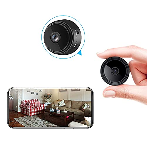 Mini Hidden Spy Camera Wireless WiFi Control Security Video Camera Watch on APP High Definition& Lasting and Steadiness in Night Remote for Security Detection in Outdoor and Indoor Large Capacity