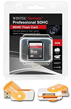 8GB Class 10 SDHC High Speed Memory Card For SANYO XACTI S880P T700T Perfect for high-speed continuous shooting and filming in HD Comes with Hot Deals 4 Less All In One Swivel USB card reader and.