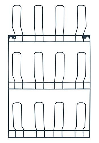 Zapatero de pared – 6 pares – Para fijar a la pared – Metal – Gris antracita – 6 x 44 x 72 cm