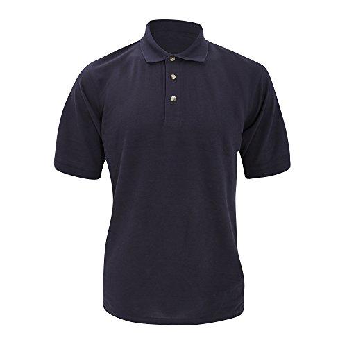 KUSTOM KIT Polo à Manches Courtes Chunky® Superwash® 60c pour Homme (2XL) (Bleu Marine)
