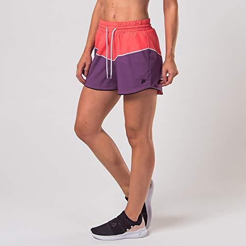 Shorts Silky, Fila, Feminino, Coral/Roxo, M