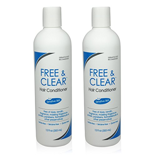 Pharmaceutical Specialties Free & Clear Hair Conditioner, 12 oz (Pack of 2)