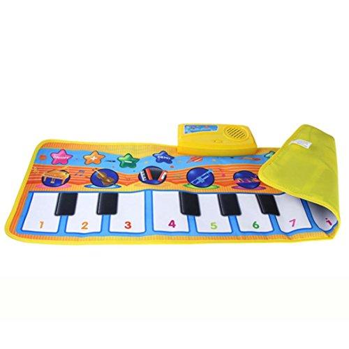 Fulltime®Appuyer sur Play clavier Musical tapis Mat chant Gym - 80 * 28CM