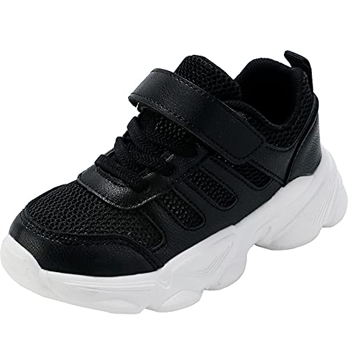 JUBAIYUAN Children's Outdoor Hiking Shoes Lightweight Non-Slip Fashion Shoes for Boys and Girls (Black, Numeric_13_Point_5)