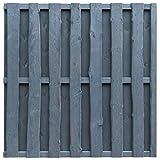 vidaXL Bohlenzaun-Paneel Zaun Gartenzaun Sichtschutzzaun Kiefernholz 180×180 cm Grau