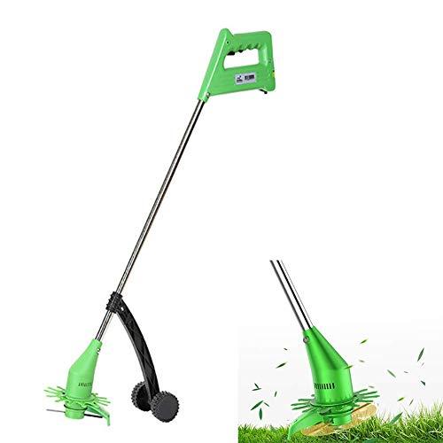 YUEXING Desbrozadora de jardín, desbrozadora inalámbrica con batería y Cargador 13500 RPM Desbrozadora inalámbrica giratoria para el Cuidado del césped y jardín