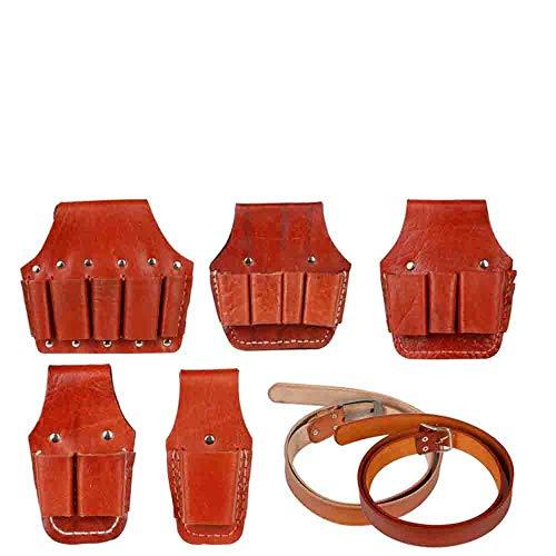 Elektriker Tasche Leder Zangen Set Elektriker Gürteltasche Kit Kleine Hardware Kit Schraubenschlüssel Kit Elektriker Kit-Rindsledergürtel Pack Zwei