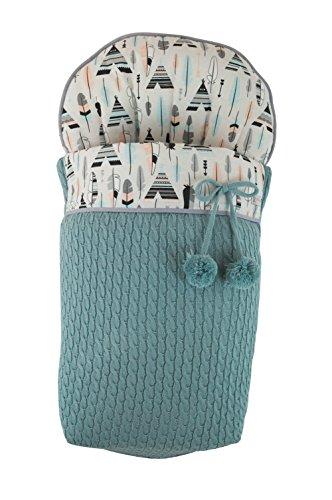 Saco funda para silla de paseo. Varios modelos y colores disponibles (Tipis y Plumas Verde Agua)
