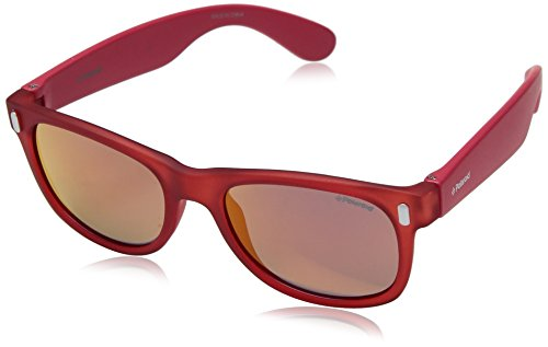 Polaroid P0115 OZ 6XQ 46 Gafas de sol, Rojo (Crystal Red/Brown), Unisex Niños