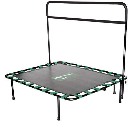 b bOUNDER Exercise Trampoline Rebounder with Balance Barre and DVD
