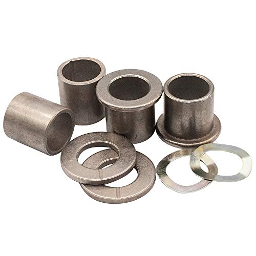 Spindle Bushings Upper and Lower Bushings Bronze, Front Thrust Spindle Bearing/Bushing, King Pin Wave Washer, Fits Club Car DS Golf Carts