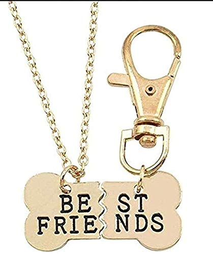 Aluyouqi Co.,ltd Collar Best Friends Collar para Mujeres niñas Rompecabezas de corazón Roto Nota Musical Collares Pendientes BFF Amistad para Siempre Regalo Joyería Regalo