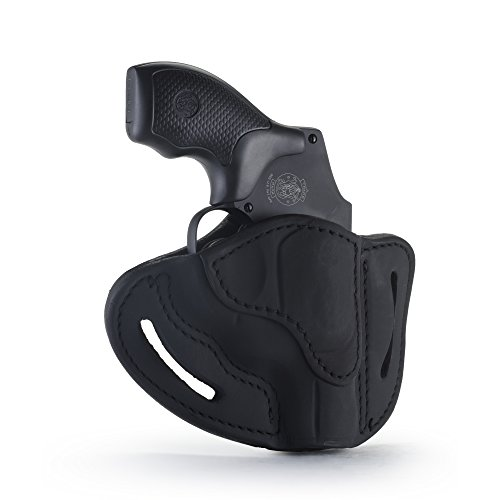 1791 GUNLEATHER J-Frame Revolver Holster - OWB CCW Holster - Right Handed Leather Gun Holster for Belts - Fits All J-Frame Revolvers Including S&W and Ruger LCR (Stealth Black)