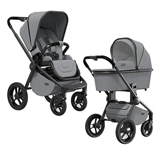 MOON RESEA S – Komfort Kombi-Kinderwagen in stone – flexibel und sehr klein faltbar