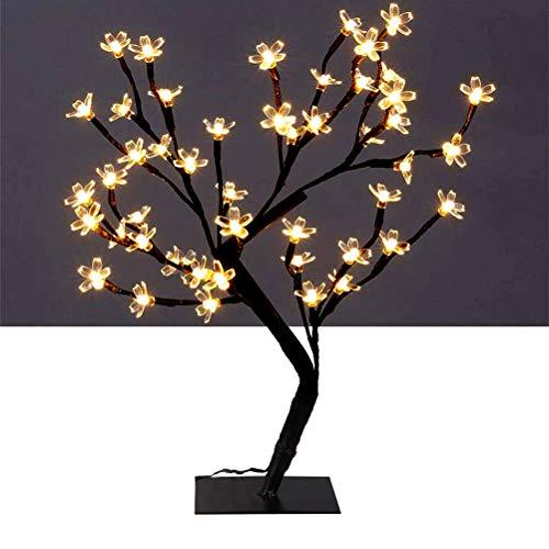 BSTiltion 48 LED Baum Licht Kirschblüten Bonsai Baum Lampe Deko Kirschblütenbaum LED Warmweiß Innen Nachtlicht Lichter Kinder Mädchen Schlafzimmer Dekoration