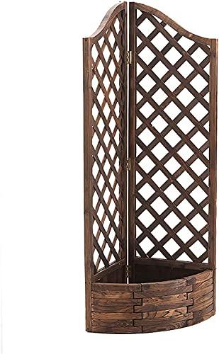 縦断勾配 Raised Planters for Garden Solid Wood Flowerpot Raised Garden Bed Carbonized Anticorrosive Flower Balcony Grid Climbing Vine Stand Outdoor Planting Wooden Trough