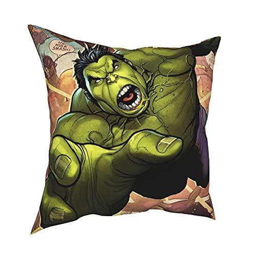 Hulk Robert Bruce Banner Movies Avengers 4 Endgame Superhero Throw Pillow Pillow Set de sofá de dormitorio con acolchado cuadrado 3d impresión 45,7 x 45,7 cm