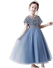 子供ドレス 女の子 フォーマル ドレス 女児 プリンセス 刺繍 結婚式 ピアノ発表会 パーティー 七五三 演奏会 入学式