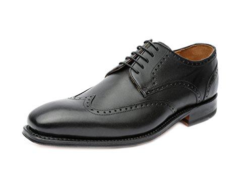 Gordon & Bros Havret 3514, Herren Businessschuhe und Schnürhalbschuhe (Derby, Leder) Schwarz (Black), EU 44